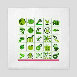 Go Green Queen Duvet