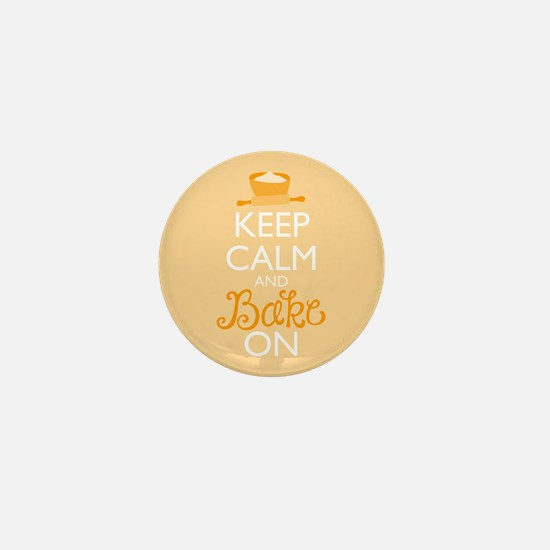 Keep Calm and Bake On Mini Button