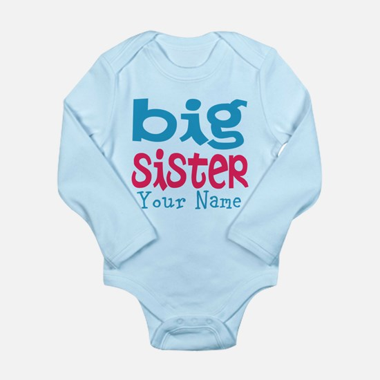 Personalized Big Sister Long Sleeve Infant Bodysui