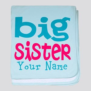 Personalized Big Sister baby blanket