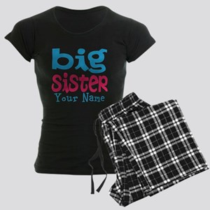 Personalized Big Sister Women's Dark Pajamas