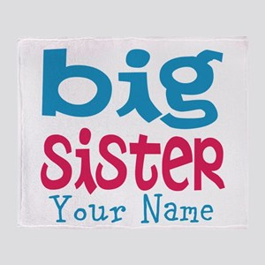 Personalized Big Sister Throw Blanket