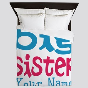 Personalized Big Sister Queen Duvet