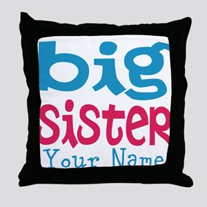 Personalized Big Sister Throw Pillow