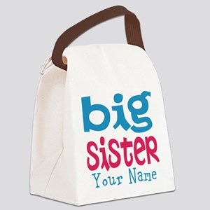 Personalized Big Sister Canvas Lunch Bag