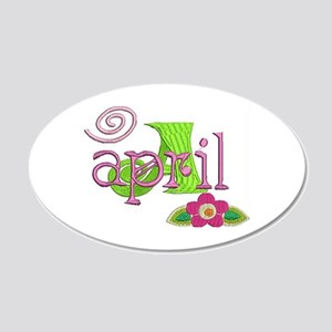 April Wall Decal