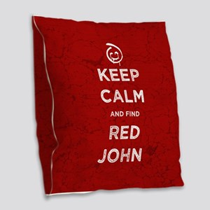 Keep Calm Red John The Mentalist Burlap Throw Pill