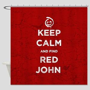 Keep Calm Red John The Mentalist Shower Curtain