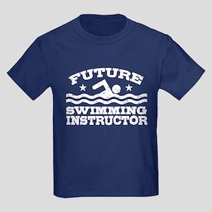 Future Swimming Instructor Kids Dark T-Shirt
