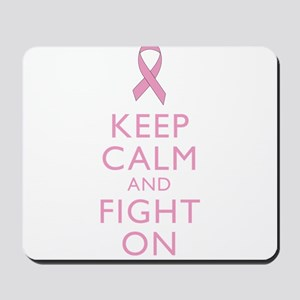 Keep Calm Breast Cancer Support Awareness Mousepad