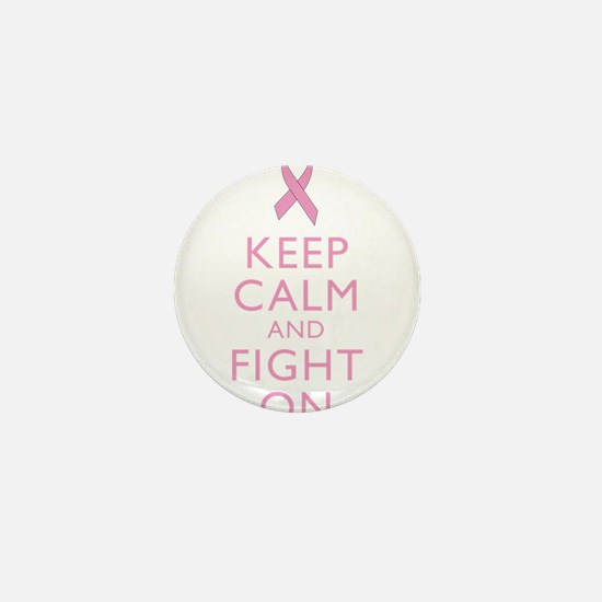 Keep Calm Breast Cancer Support Awareness Mini But