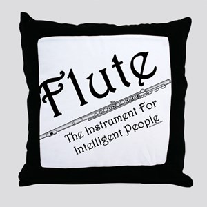 Intelligent Flute Throw Pillow