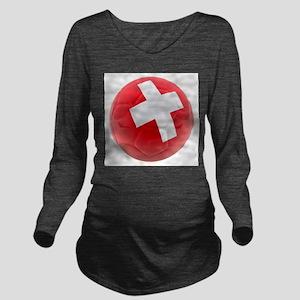 Switzerland World Cup Ball Long Sleeve Maternity T