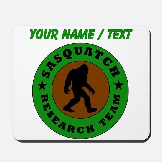 Custom Sasquatch Research Team Mousepad