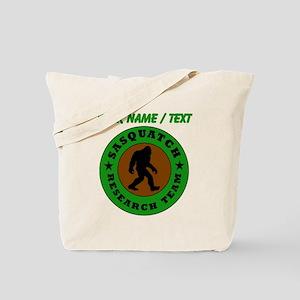 Custom Sasquatch Research Team Tote Bag