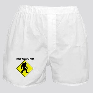 Custom Bigfoot Crossing Boxer Shorts