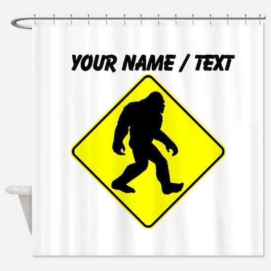 Custom Bigfoot Crossing Shower Curtain