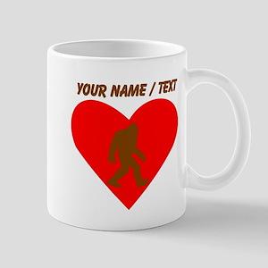 Custom Bigfoot Heart Mugs