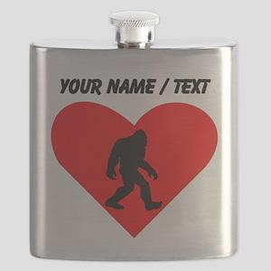 Custom Bigfoot Heart Flask