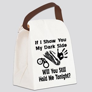 Show You My Dark Side Canvas Lunch Bag