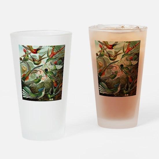 Vintage Hummingbirds Drinking Glass