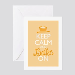 Keep Calm and Bake On Greeting Card