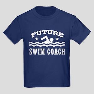 Future Swim Coach Kids Dark T-Shirt