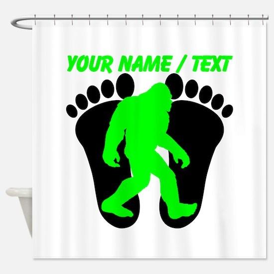 Custom Bigfoot Footprint Shower Curtain
