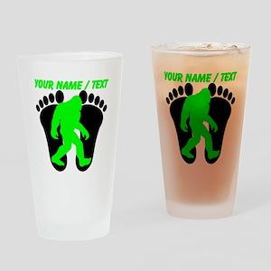 Custom Bigfoot Footprint Drinking Glass