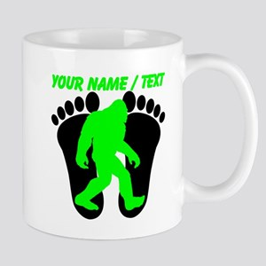 Custom Bigfoot Footprint Mugs