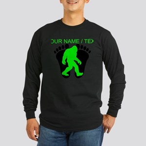 Custom Bigfoot Footprint Long Sleeve T-Shirt