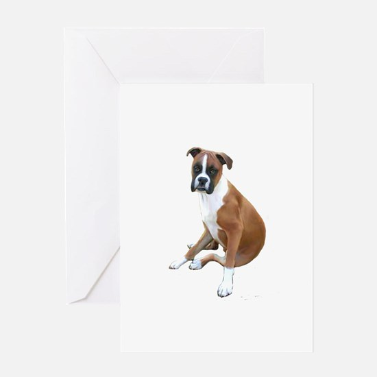 Boxer #6 (fawn) Greeting Card