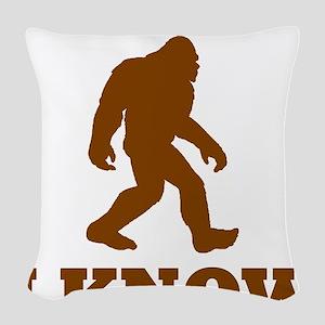 Bigfoot I Know Woven Throw Pillow