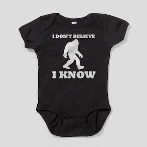 Bigfoot I Know Baby Bodysuit
