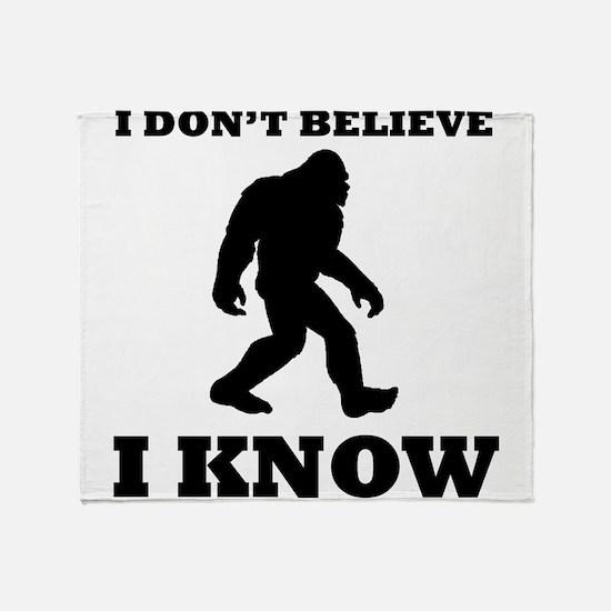 Bigfoot I Know Throw Blanket
