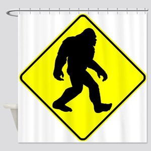 Bigfoot Crossing Shower Curtain