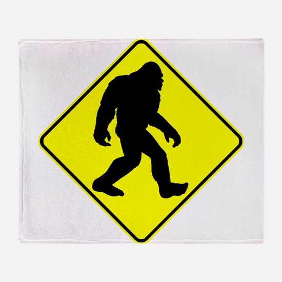 Bigfoot Crossing Throw Blanket
