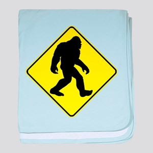 Bigfoot Crossing baby blanket