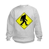 Bigfoot crossing Crew Neck