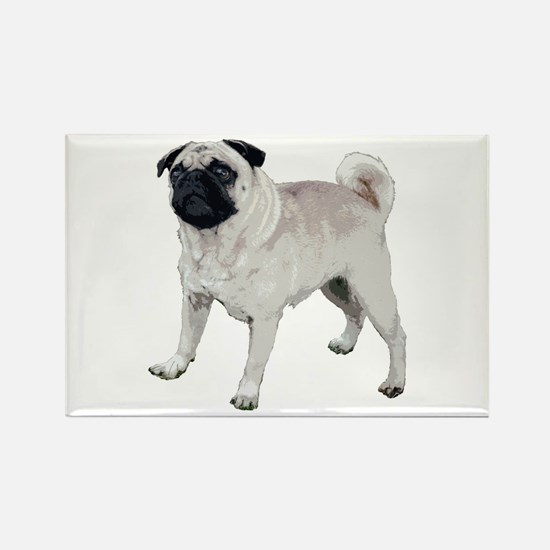 Cute pug Rectangle Magnet