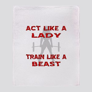 Train Like A Beast Throw Blanket