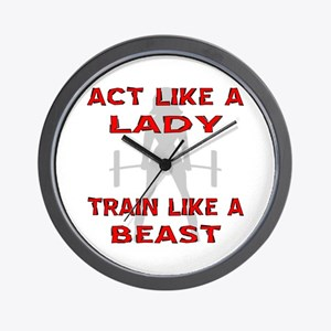 Train Like A Beast Wall Clock