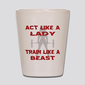 Train Like A Beast Shot Glass