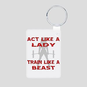 Train Like A Beast Aluminum Photo Keychain