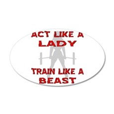 Train Like A Beast Wall Sticker