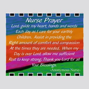 Nurse Prayer Blanket Throw Blanket