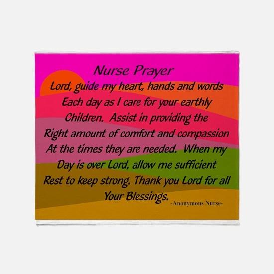 Nurse Prayer Blanket 2 Throw Blanket