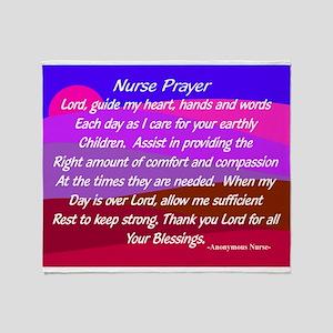 Nurse Prayer Blanket 3 Throw Blanket