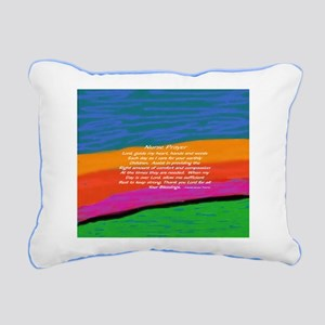 Nurse Prayer Pillow Rectangular Canvas Pillow