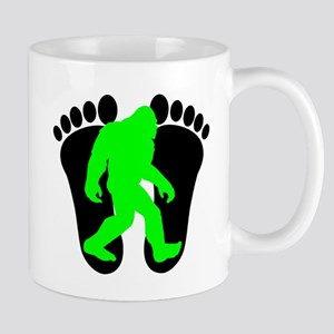 Neon Green Bigfoot Mugs